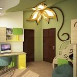 детска стая с пързалка и цвете