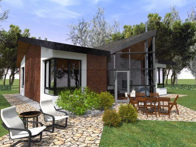 Архитектурен проект на едноетажна къща СПТЯ