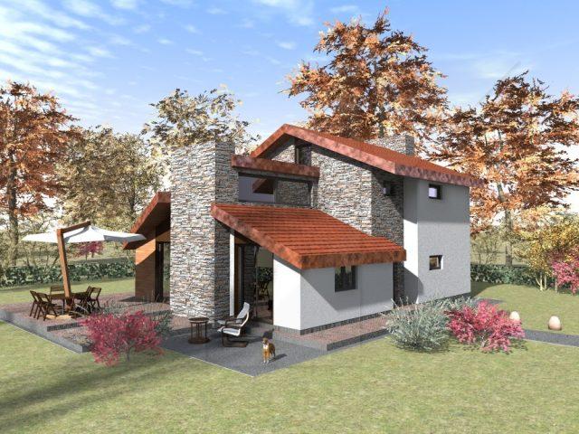 Проект на двуетажна къща в Стара Загора.