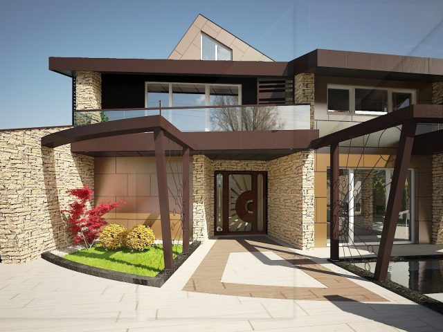 Exterior design project of a house in Dragalevtsi.