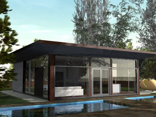 Минималистична едноетажна къща