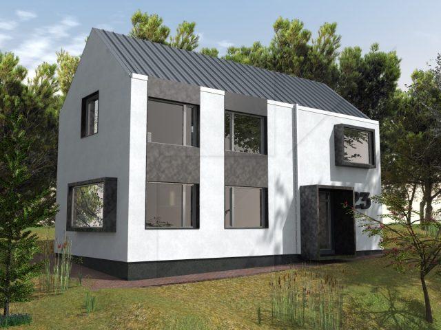 Modern house in Vakarel.