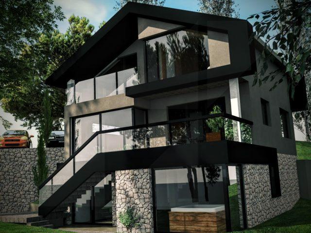Нова фасада на къща в Бистрица.