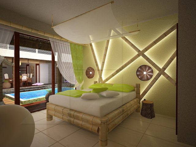 Bedrooms interior design in Bali.