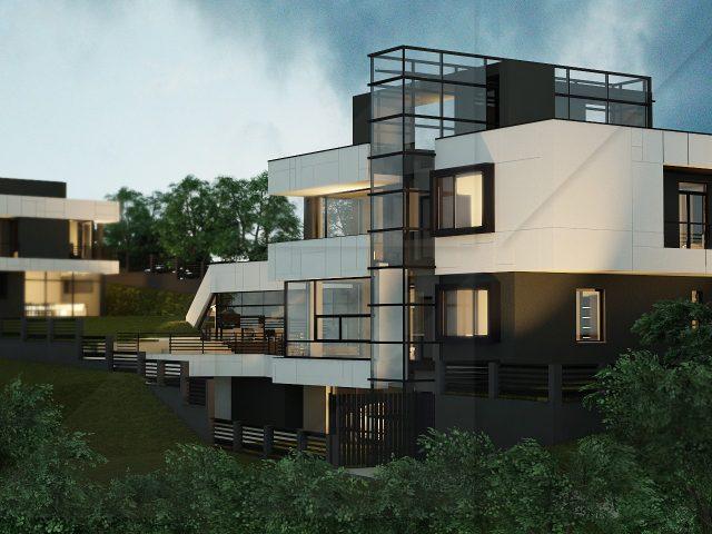 Концептуален проект за две еднофамилни къщи