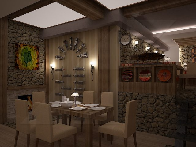 Restaurant interior design project.