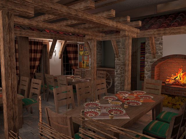 Tavern interior design in Rudozem