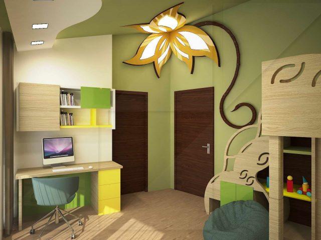 Детска стая с пързалка