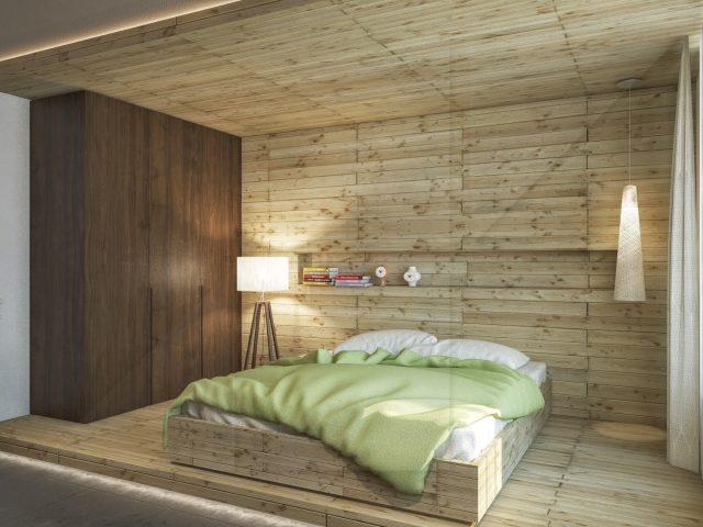 Интериорен проект на спално помещение.
