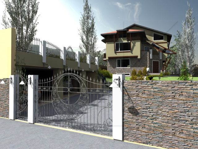 Exterior design project of a house in Bankya