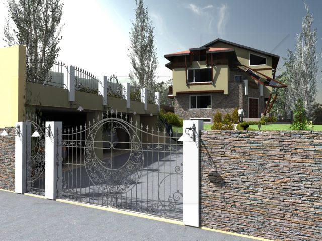 Екстериорен проект на къща в Банкя.