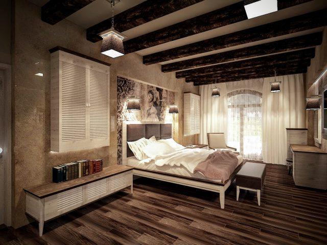 Спалня в средиземноморски стил.