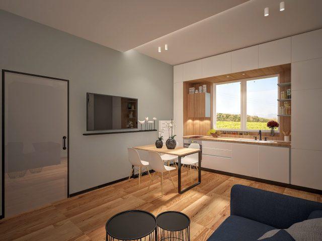 Интериорен дизайн на апартамент за отдаване под наем.