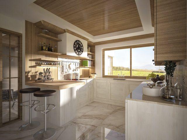 Интерирен дизайн на кухня – рустик.